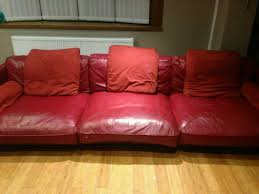 used red leather sofa large dfs california red leather sofa in handsworth west midlands