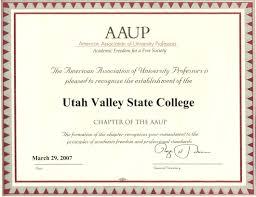 utah valley university american association of university professors