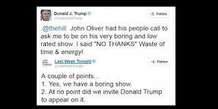 John Oliver Memes - donald trump vs john oliver video joe my god