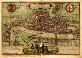 Medieval Maps Amazing 1560 Map Of London