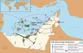 map of the uae united arab emirates plans to increase crude and gas
