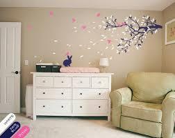 Vinyl Wall Decals For Nursery Brunch Tree Wall Decal Rabbit Sticker Vinyl Nursery Mural Decor