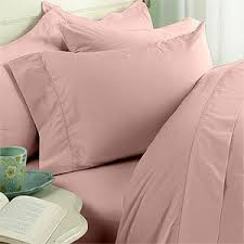 king size 1200 thread count solid pink 100