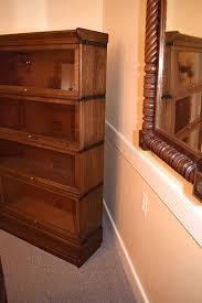 Barrister Bookcase Door Slides Oak Barrister Bookcase Gates Antiques Ltd Richmond Va