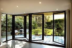 Glass Bifold Doors Exterior Collapsible Sliding Door Folding Patio Doors Lowes Oak Bifold Upvc