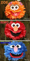 best 25 homemade party decorations ideas on pinterest diy homemade sesame street character poms so cute
