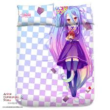 Anime Bed Sheets Brand New Shiro No Game No Life Japanese Anime Bed Blanket 1 On