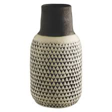 white vase black and white patterned ceramic vase buy now at habitat uk