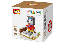 loz diamond blocks loz no 9525 skier snoopy diamond block block intelligent