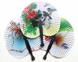 cheap paper fans paper fan small fan folding retro bun paper deco fan wedding