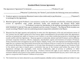 licensing agreement template free agreement license agreement