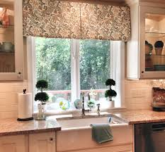tailored valance finishes this new kitchen curtains u0026 shower