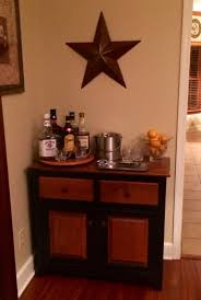 furniture country varnished walnut liquor cabinet with black