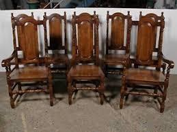 sala da pranzo in inglese 8 elizabethan tudor oak fattoria sedie sala da pranzo inglese ebay