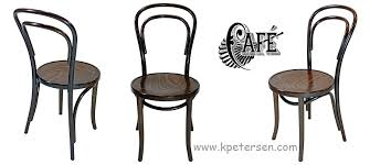 bentwood chairs thonet style no 14 detail walnut stained chairs