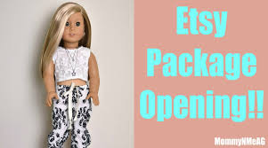 design clothes etsy american girl doll clothing haul opening etsy clothes from elite