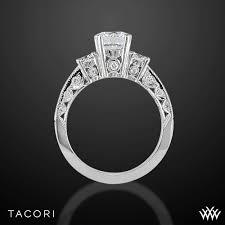 tacori crescent engagement ring tacori classic crescent illuminate three engagement ring 2839