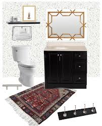 tempaper wallpaper tempaper bathroom mini makeover