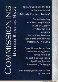 Open House Invitations Open House Invitation United States Navy Mustang