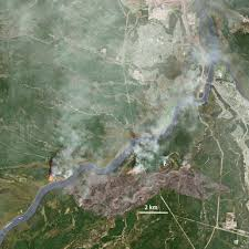 Canadian Wildland Fire Training by Satellite Photos Show Alberta U0027s Catastrophic Wildfire Business