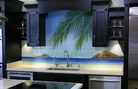 ceramic tile murals for kitchen backsplash kitchen backsplash kitchen remodel tropical tile mural