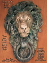 lion door knocker great american bronze works inc sculptures king of the plains