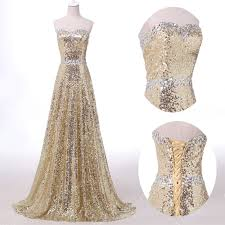 vintage sparkling sequins prom party bridesmaids gowns formal