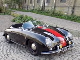 classic chrome porsche 356 speedster replica 1969 g black