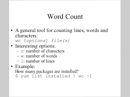 Count No Of Words In Unix Bits Introduction To Linux Text Manipulation Tools For Bioinformat