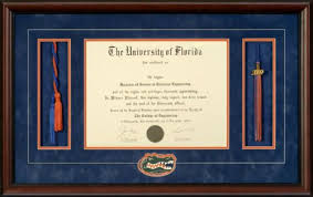 tassel frame of florida diploma frame with honor cords tassel