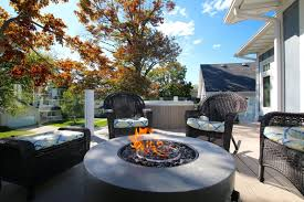 Corner Fire Pit by Firepit Homes