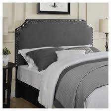 belgrave shaped upholstered headboard with nailheads full queen