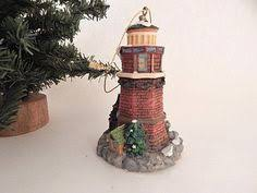 train and bear christmas tree ornament painted wood figurine