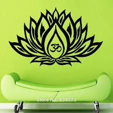 Lotus Flower Wall Decal Om by Fine Design Yoga Wall Art Splendid Lotus Flower Om Sign Yoga Wall