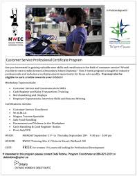 customer service and retail professional program niagara women u0027s