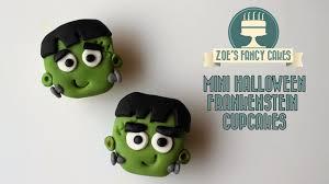 mini halloween frankenstein cupcakes how to cake tutorial treats