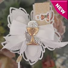 First Holy Communion Decorations First Holy Communion Confetti Flower With Silver Chalice