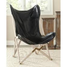 Butterfly Folding Chair Butterfly Black Bi Cast Leather Folding Chair