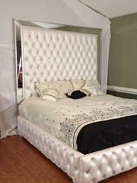 Luxury Bed Frame Luxurious Tufted Bed With Mirrors And Rhinestones Bedrooms Bed