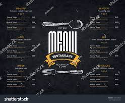 restaurant menu design vector menu brochure stock vector 623251868