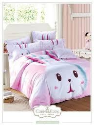 cute pink rabbit bedding set queen size cartoon quilt duvet covers