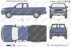 2014 toyota tacoma dimensions the blueprints com vector drawing toyota tacoma access cab