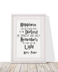 harry potter quote happiness can be found framed print four