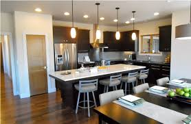 pendant lights for low ceilings black and white color combination for open kitchen using recessed
