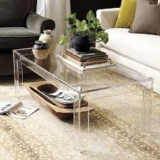 felicity acrylic coffee table ballard designs
