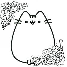 Coloring Pusheen Coloring Pages In Conjunction With Pusheen The Coloring Page Of