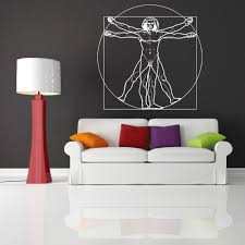 aliexpress com buy free shipping leonardo da vinci vitruvian man aliexpress com buy free shipping leonardo da vinci vitruvian man vinyl wall art sticker decal home decoration wall paper bedroom mural d 21 from reliable