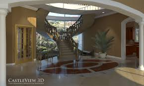 castleview 3d 3 d images of floor plans and interiors elegant marble entrance hall and staircase