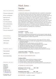 Student Teaching Resume Template Resume Templates For Educators Teachers Resume Examples