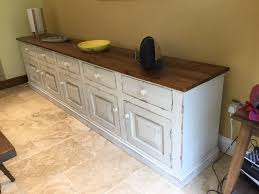 large freestanding shaker style kitchen dining room sideboard